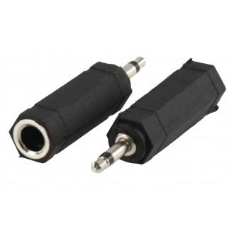 Adaptér s 3,5 mm monozástrčkou a 6,35 mm stereozásuvkou